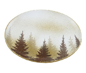 Pine Tree Serving Platter Set