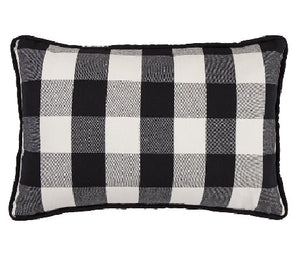 Blackberry Check Pillow