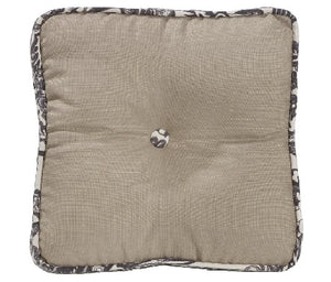 Toile Buttoned Boxed Pillow