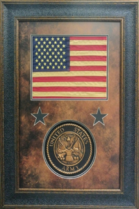American Flag with Army Seal