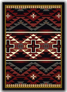 Black Rustic Cross Rug