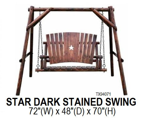 Dark Stained Star Swing