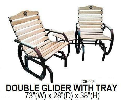 Double Glider With Tray