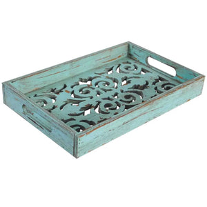 Antique Turquoise Tray