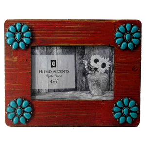 Turquoise Squash Blossoms Picture Frame