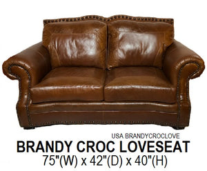 Brandy Croc Sofa Set