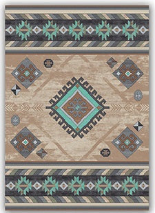 Mint Wild Whiskey Rug
