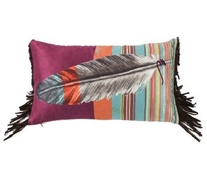 Embroidered Feather Pillow