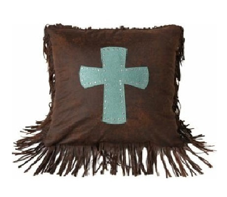 Turquoise Cheyenne Cross Pillow