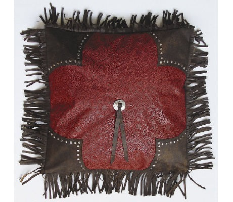 Red Scalloped Edge Cheyenne Pillow