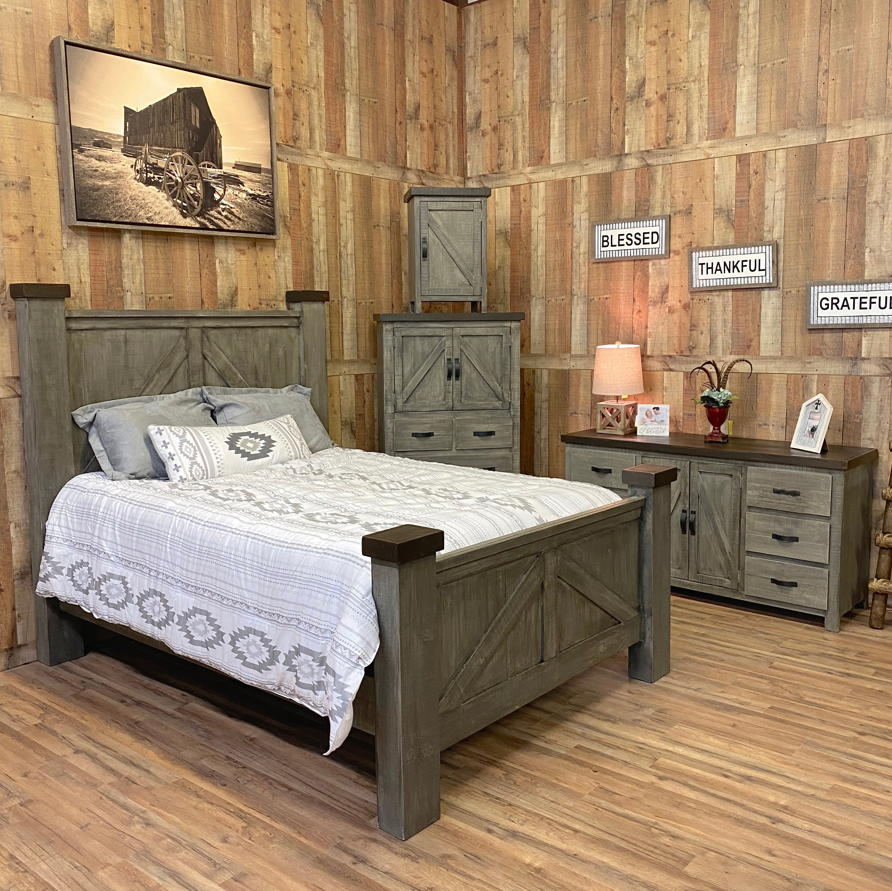 Weathered Farmhouse Bedroom Rustic Furniture Depot