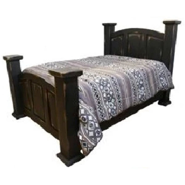 Antique Black Bed