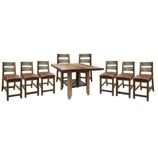 Antique Multicolor Counter Height Dining Set
