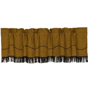 Barbed Wire Valance with Fringe