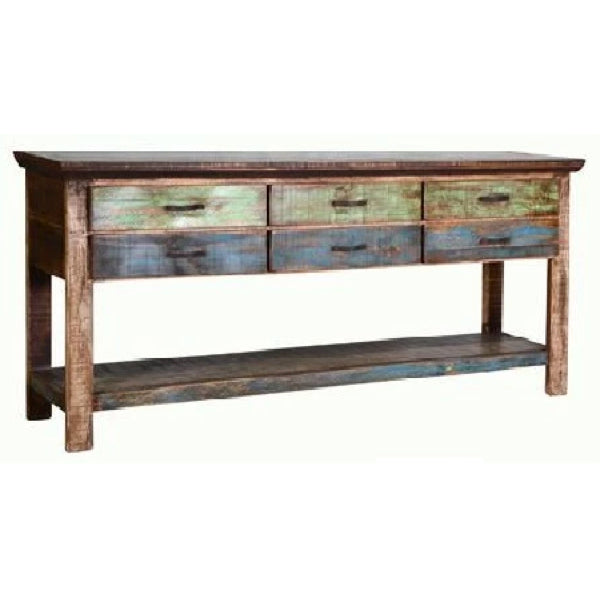 Cabana 6 Drawer Sofa Table