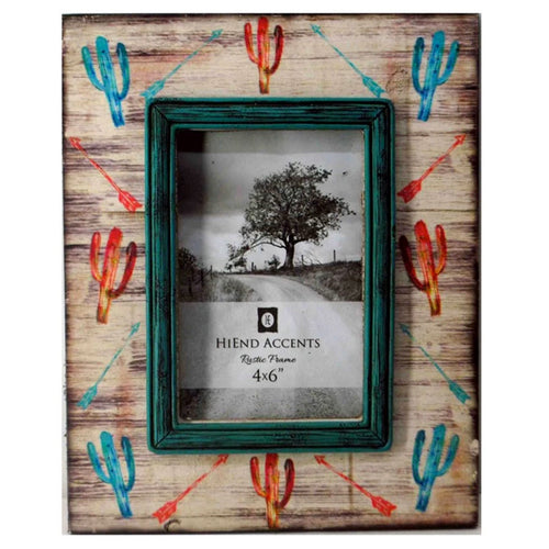 Cactus and Arrow Picture Frame