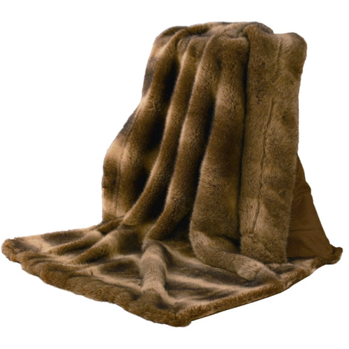 Faux Wolf Throw