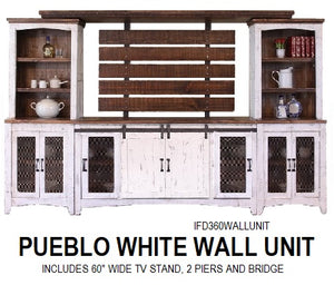 Pueblo White Wall Unit