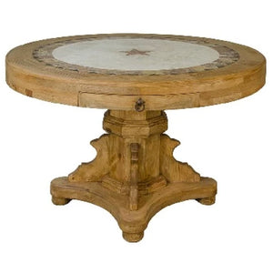 Round Travertine Dining Set