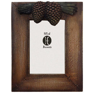 Pine Cone Lodge Picture Frame