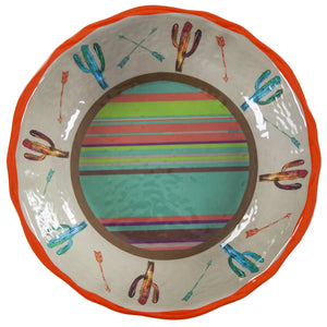 Saguaro Cactus Melamine Serving Bowl