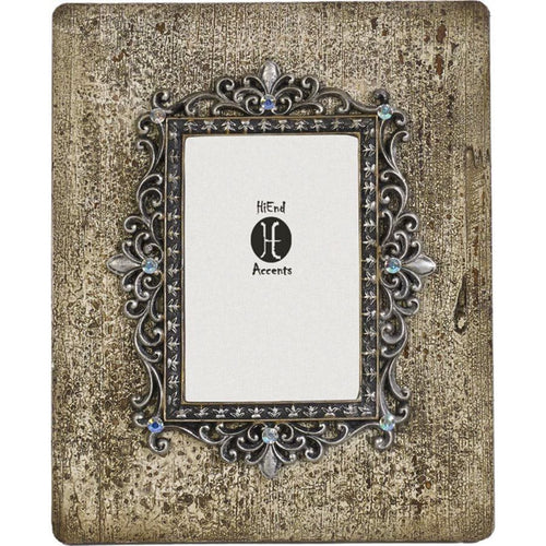 Silver and Rhinestone Picture Frame