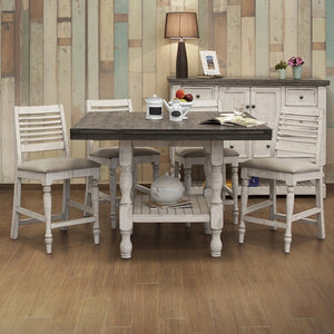 Stone Square Counter Dining Set
