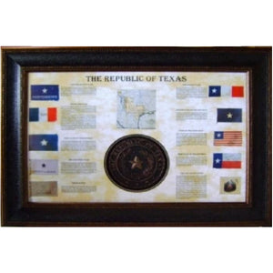 Texas Flag Collage and Seal Art