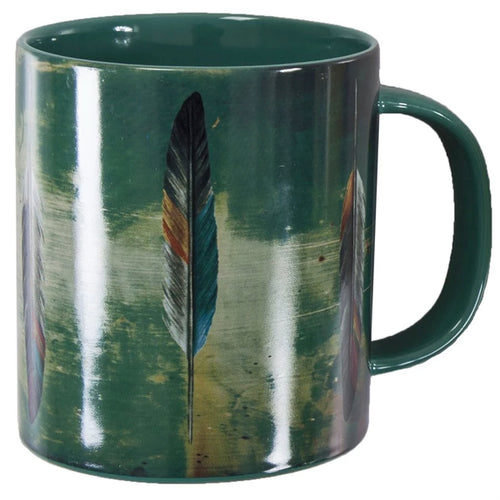 Tossed Feather Design Mug Set