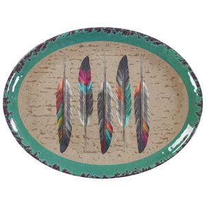 Tossed Feather Melamine Serving Platter