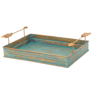 Turquoise Copper Tray