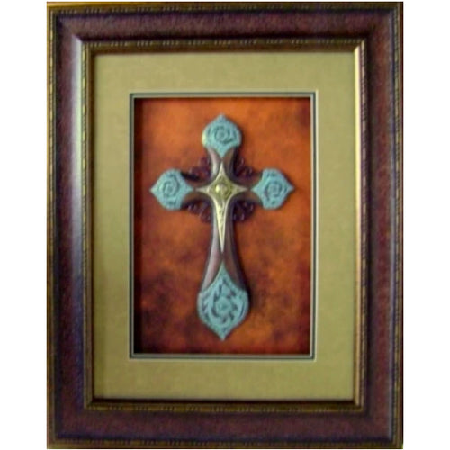 Turquoise Cross with Sun