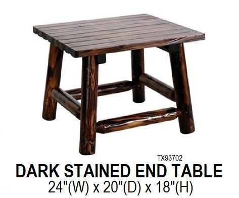 Dark Stained End Table