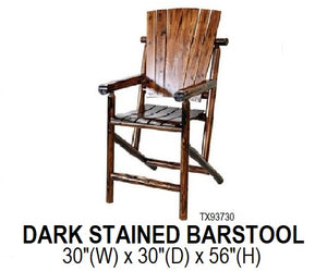 Dark Stained Barstool