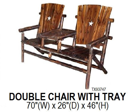 Double Chair with Tray