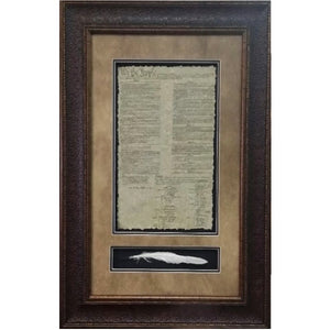 US Constitution with Quill