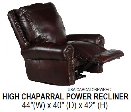 High Chaparral Power Recliner