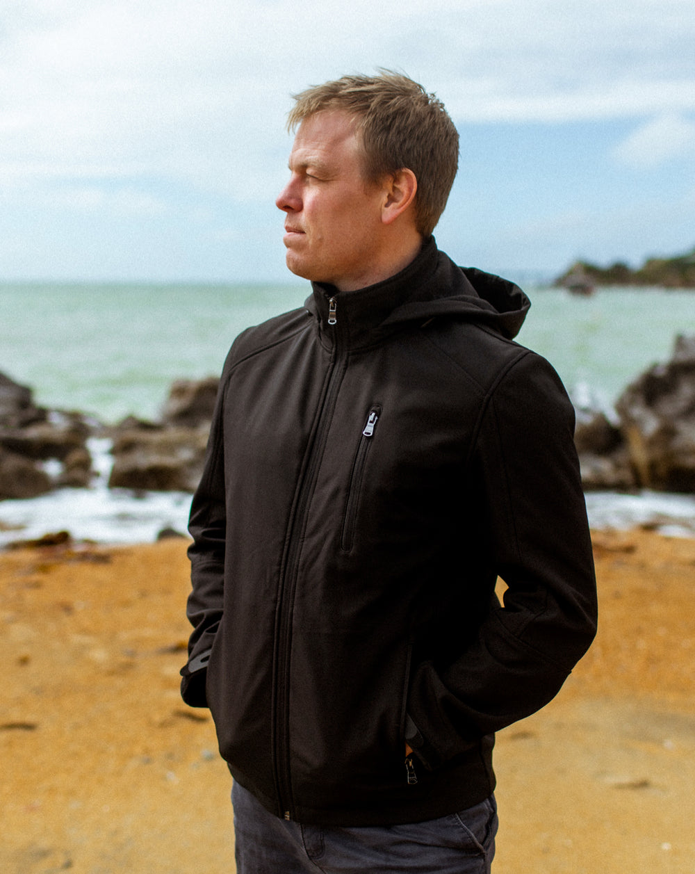 BLAIR MENS SOFTSHELL JACKET - BLACK