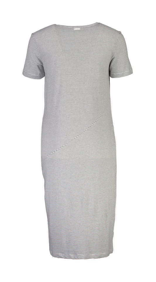 HEPBURN DRESS - BLACK/WHITE STRIPE