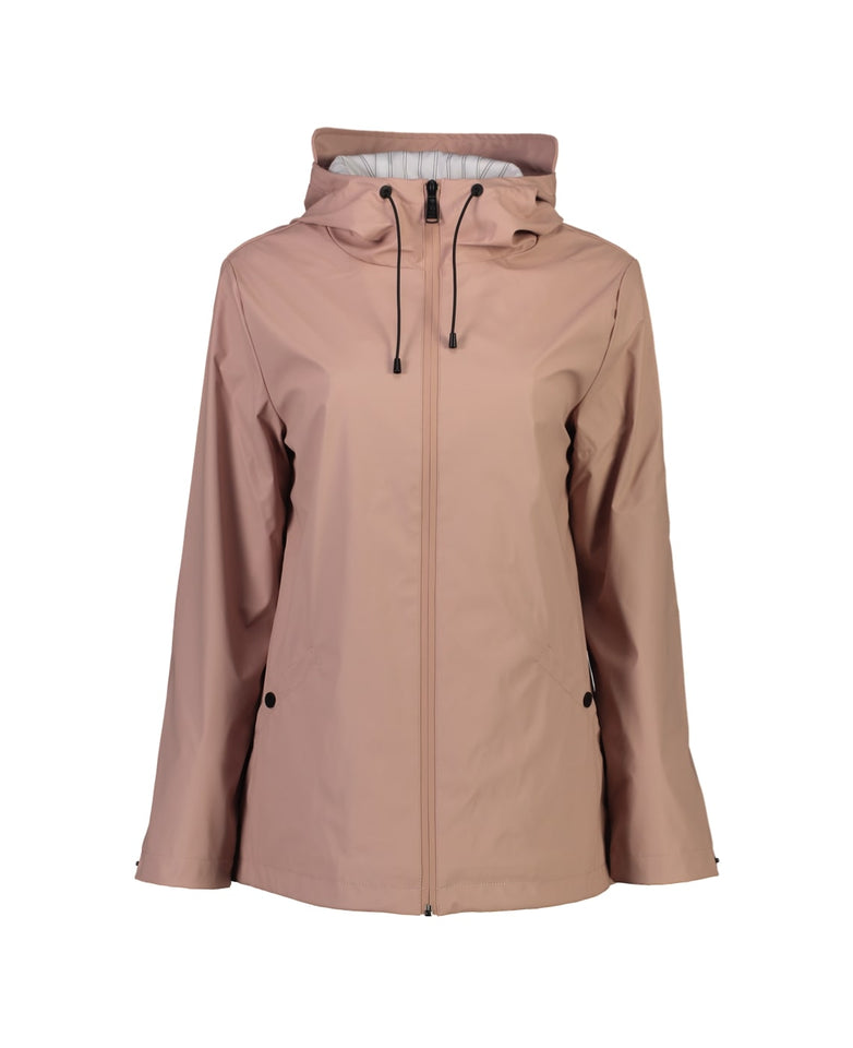 MEL SHORT RAIN JACKET- BLUSH