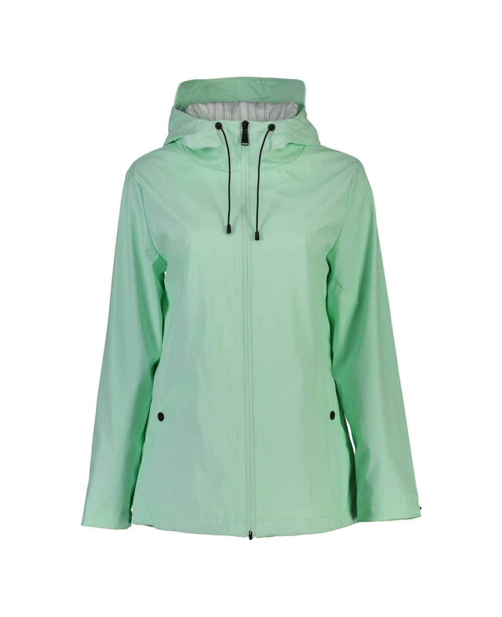 MEL SHORT RAIN JACKET- MINT