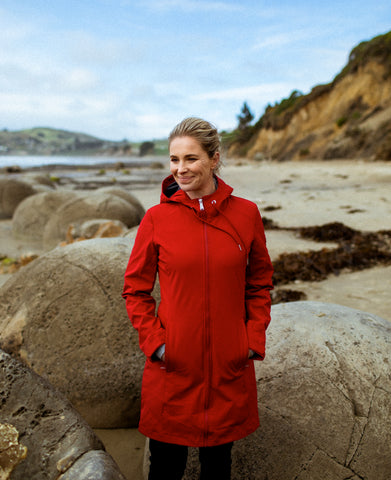 TOTARA SOFTSHELL COAT - MULBERRY