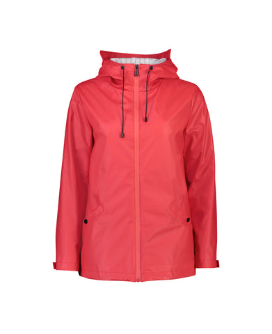 MEL SHORT RAIN JACKET- RASPBERRY