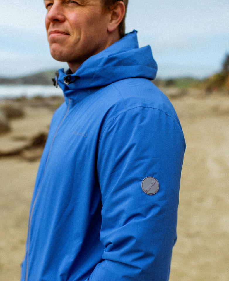 WAITAKI RAIN JACKET - MARINE BLUE