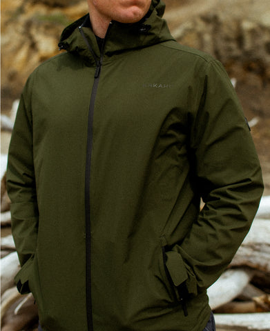 WAITAKI RAIN JACKET - ARMY GREEN