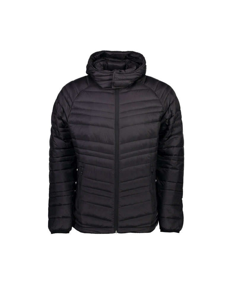 KEITH MEN'S 90/10 PACKABLE DOWN JACKET - BLACK