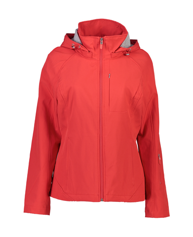 FERN SOFTSHELL JACKET - RASPBERRY