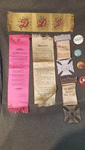Lot of Religious Items: Ribbon Book mark, St Mary