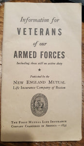WWII War Ration Book and Guide for Veterans of Armed Forces