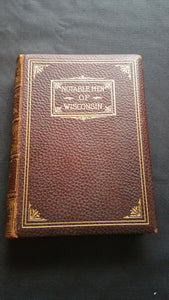 Notable Men of Wisconsin 1901-1902 RARE First Edition